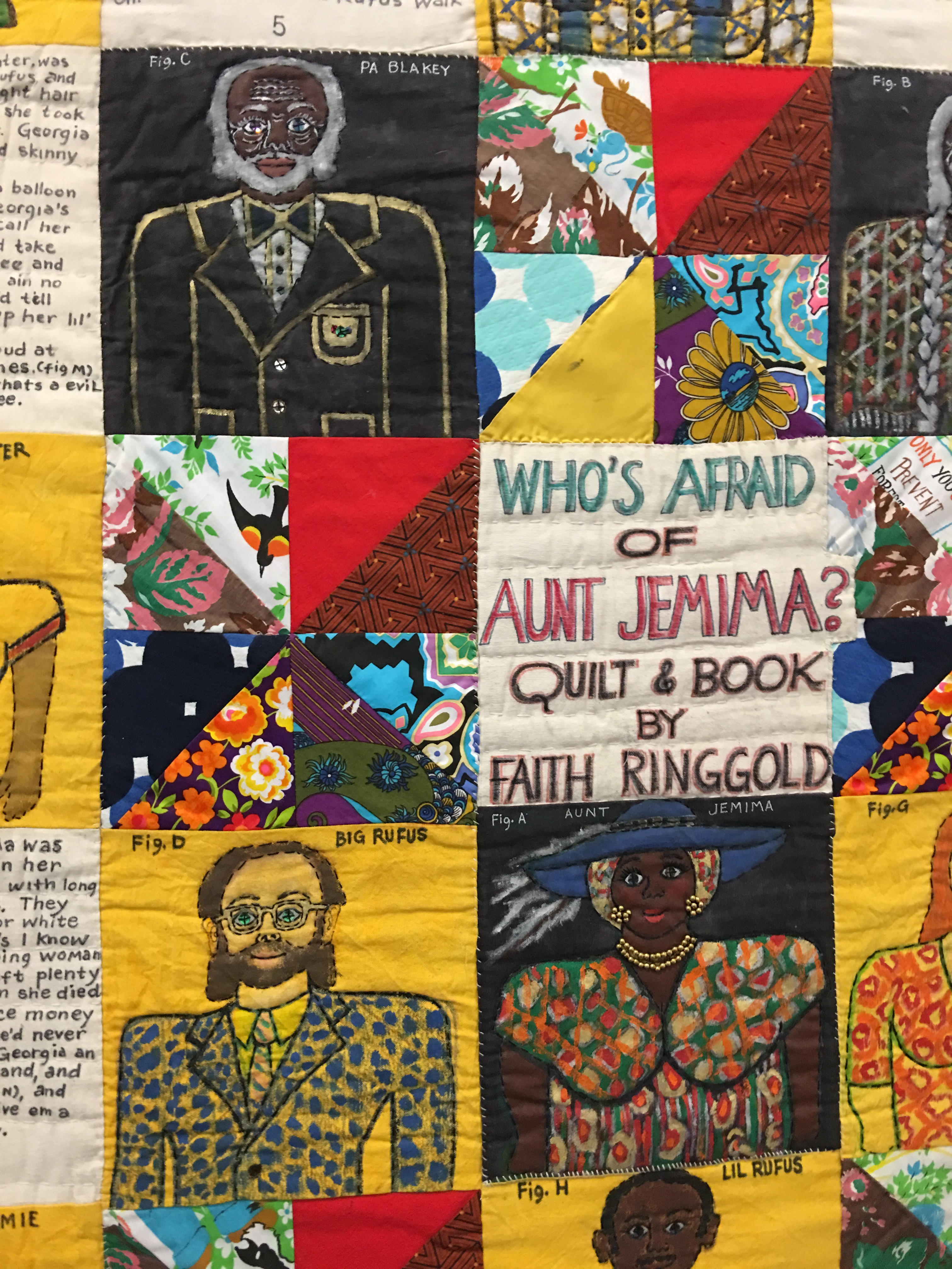"""Detail of """"Who's Afraid of Aunt Jemima?"""" by Faith Ringgold"""