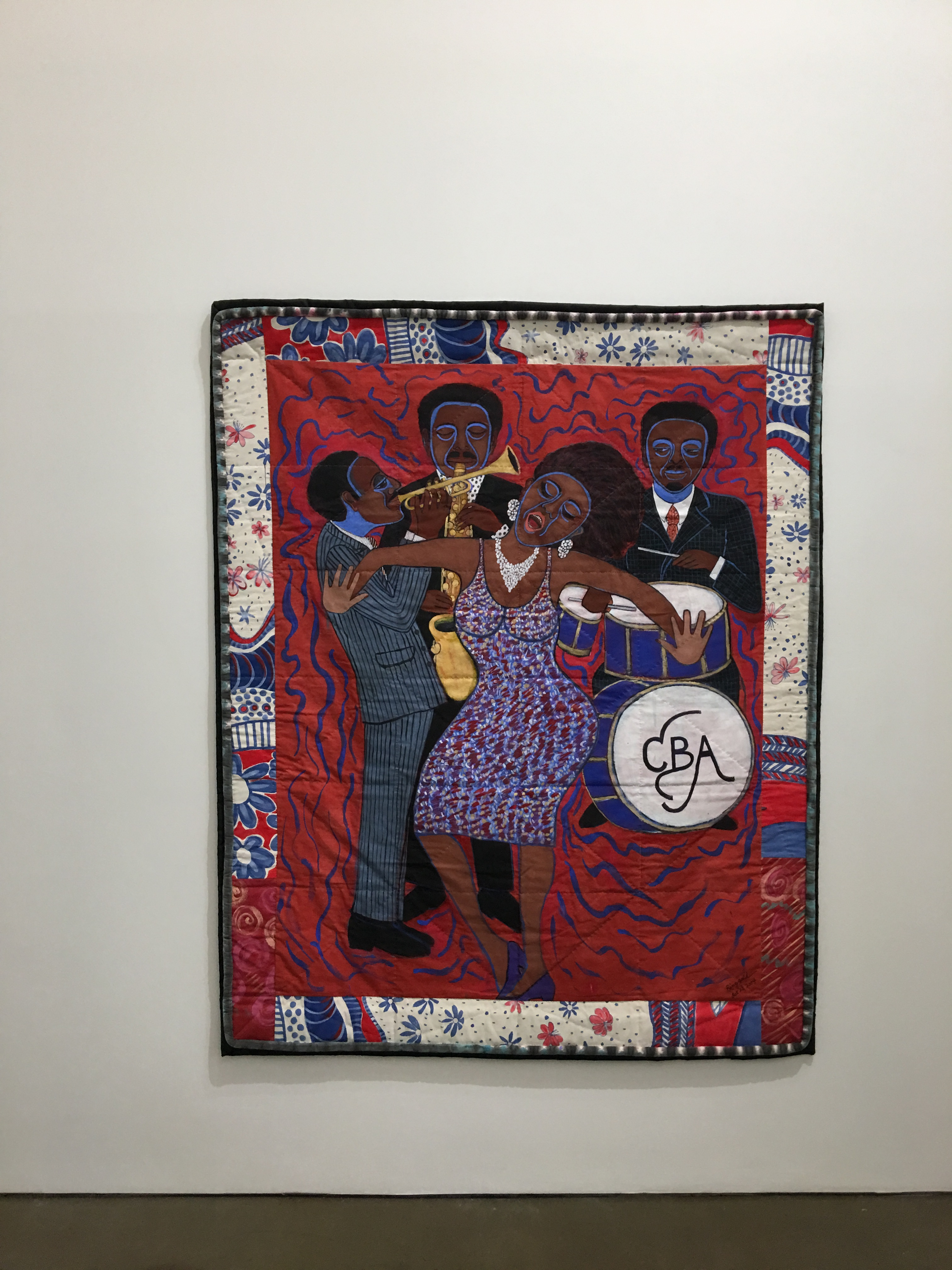 """""""Jazz Stories: Mama Can Sing, Papa Can Blow"""" by Faith Ringgold"""