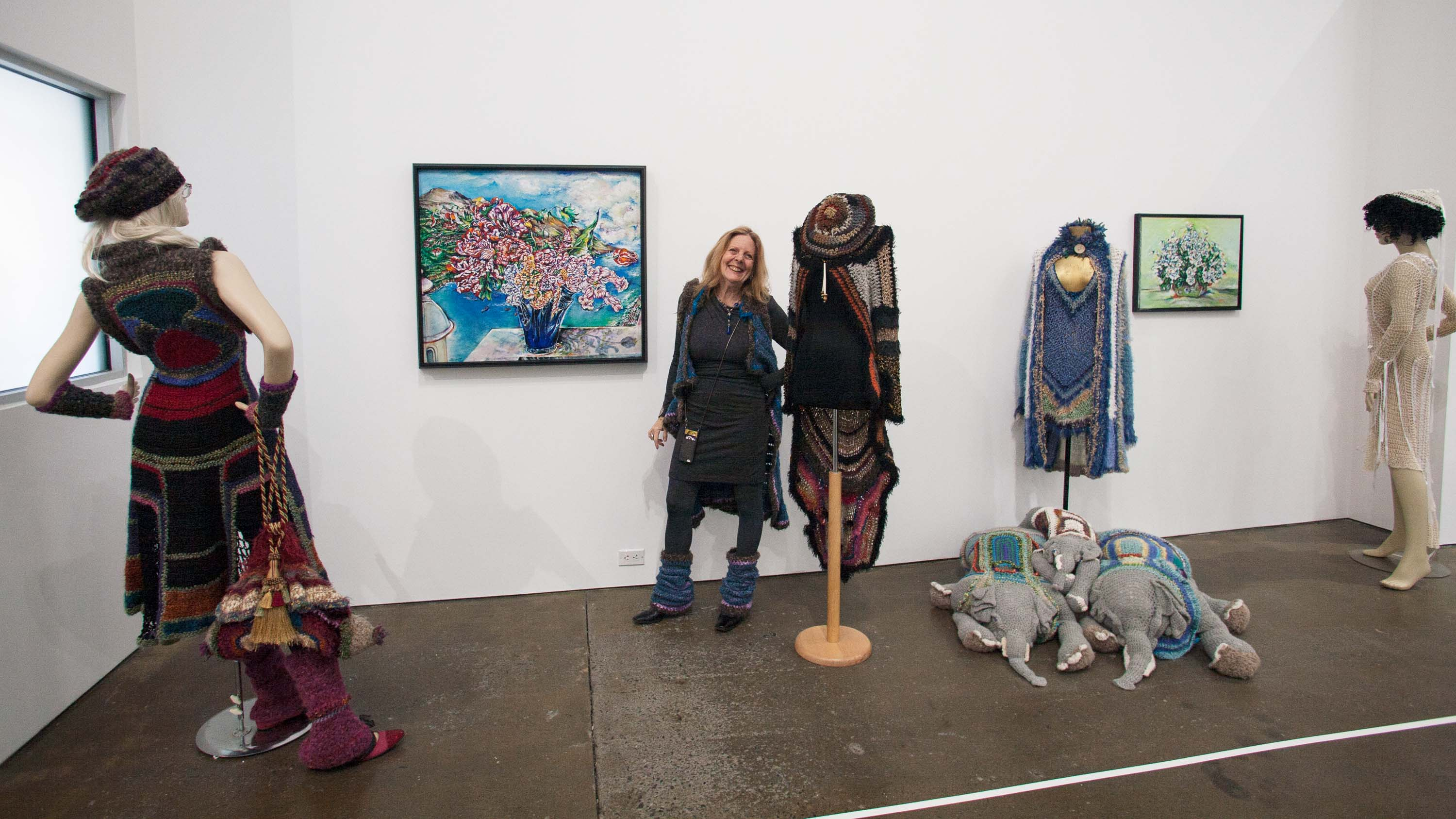 Susan Obrant with her Installation, Photo by Bibiana Mattheis