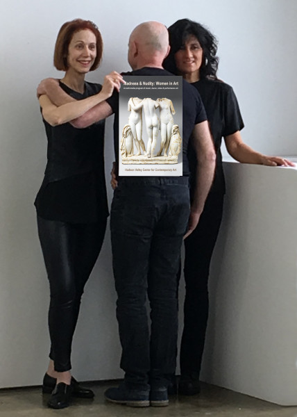 The creators of Madness & Nudity with poster